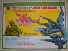 Guns of the Magnificent Seven, Original UK Quad Poster, George Kennedy, '69
